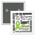 Lyme Disease I Wear Lime Green Ribbon Tribute 2 Inch Square Button
