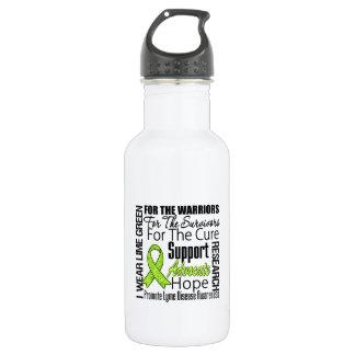Lyme Disease I Wear Lime Green Ribbon Tribute 18oz Water Bottle