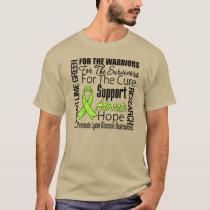 Lyme Disease I Wear Lime Green Ribbon Tribute T-Shirt