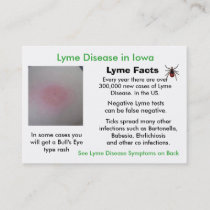 Lyme Disease in Iowa Information Cards