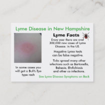 Lyme Disease in New Hampshire Information Cards