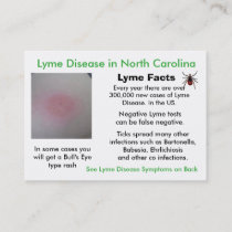 Lyme Disease in North Carolina Information Cards