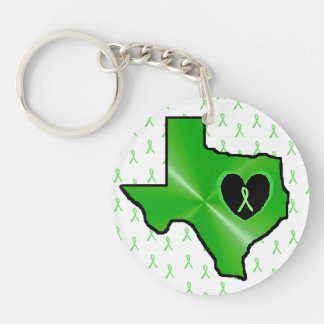 Lyme Disease in Texas 2 Sided Key Chain Ring