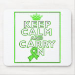 Lyme Disease Keep Calm and Carry ON Mousepad