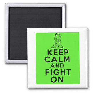 Lyme Disease Keep Calm and Fight On 2 Inch Square Magnet