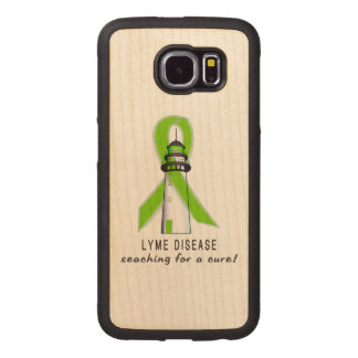 Lyme Disease Lighthouse Searching for a Cure Wood Phone Case