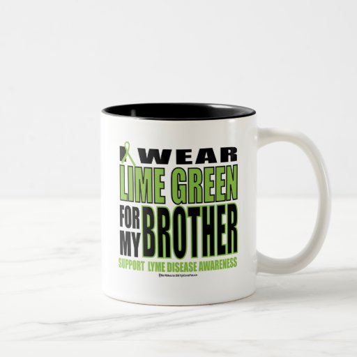 Lyme Disease: Lime Green for Brother Two-Tone Coffee Mug