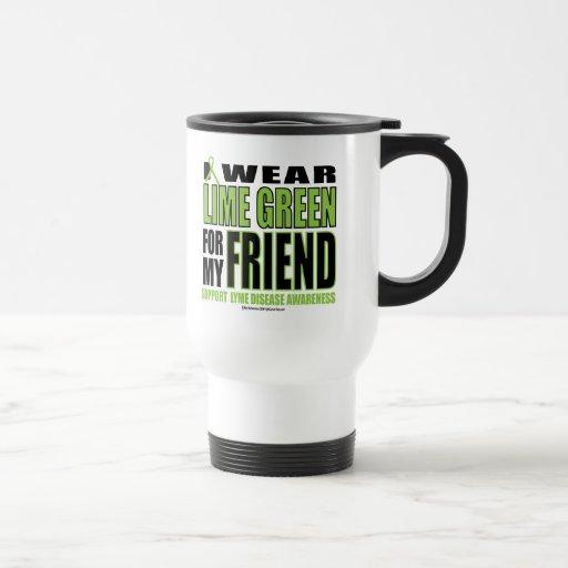 Lyme Disease: Lime Green for Friend Travel Mug