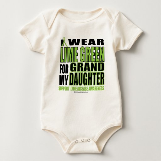 Lyme Disease: Lime Green  for Granddaughter Baby Creeper