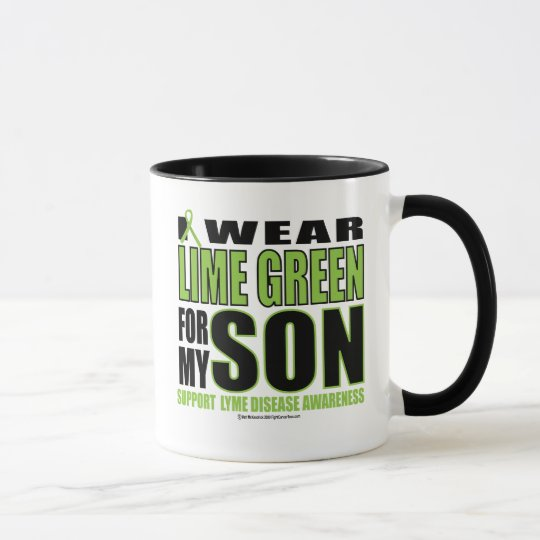 Lyme Disease: Lime Green for Son Mug