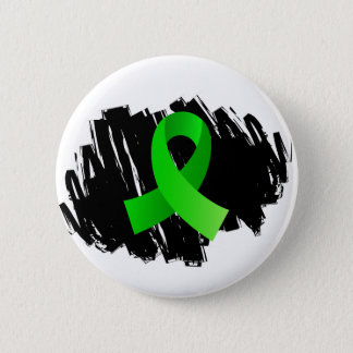 Lyme Disease Lime Green Ribbon With Scribble Pinback Button