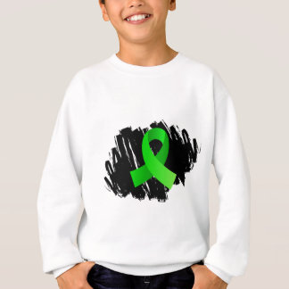 Lyme Disease Lime Green Ribbon With Scribble Sweatshirt