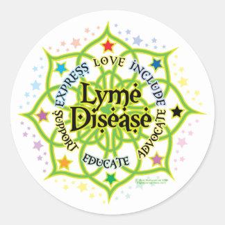 Lyme Disease Lotus Classic Round Sticker