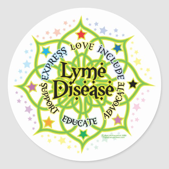 Lyme Disease Lotus Classic Round Sticker