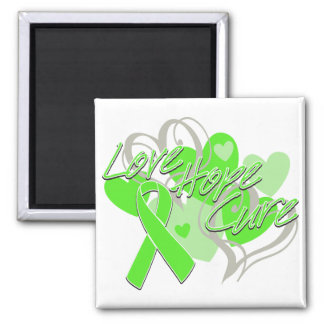Lyme Disease Love Hope Cure 2 Inch Square Magnet