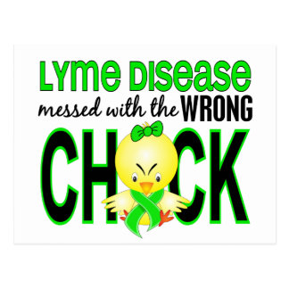 Lyme Disease Messed With Wrong Chick Postcard