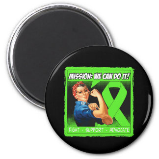 Lyme Disease Mission We Can Do It 2 Inch Round Magnet