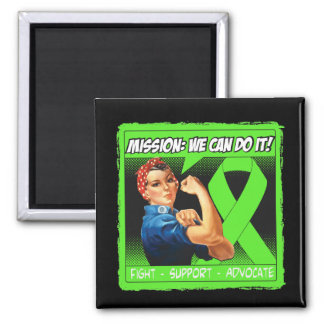 Lyme Disease Mission We Can Do It 2 Inch Square Magnet