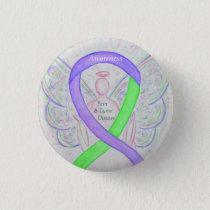 Lyme Disease & Pain Awareness Ribbon Buttons