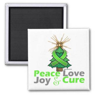 Lyme Disease Peace Love Joy Cure 2 Inch Square Magnet