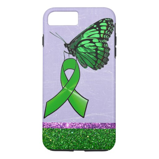 Lyme Disease Phone Case Purple Green Butterfly