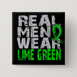 Lyme Disease Real Men Wear Lime Green Button