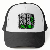 Lyme Disease Real Men Wear Lime Green Trucker Hat