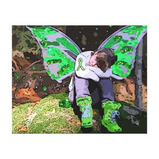 Lyme Disease Resting Warrior Girl Angel or Fairy Canvas Print