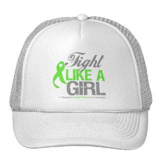 Lyme Disease Ribbon - Fight Like a Girl Trucker Hat