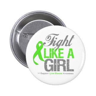 Lyme Disease Ribbon - Fight Like a Girl Pins