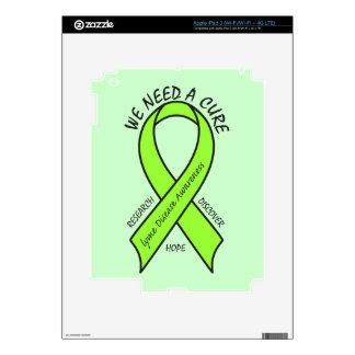 Lyme Disease Ribbon: We Need a Cure Decal For iPad 3