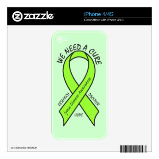 Lyme Disease Ribbon: We Need a Cure Skin For iPhone 4
