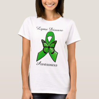 Lyme Disease Ribbon with Butterfly Shirt