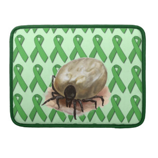 Lyme Disease Ribbons with Tick Sleeves For MacBook Pro