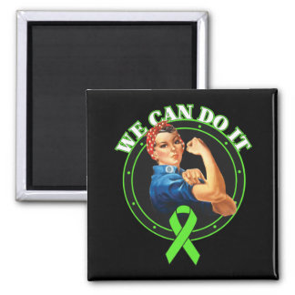 Lyme Disease - Rosie The Riveter - We Can Do It 2 Inch Square Magnet
