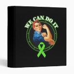 Lyme Disease - Rosie The Riveter - We Can Do It 3 Ring Binder