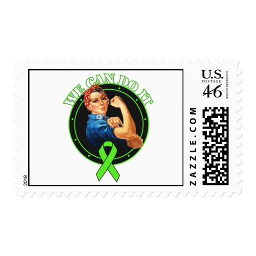 Lyme Disease - Rosie The Riveter - We Can Do It Postage Stamps