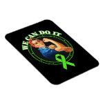 Lyme Disease - Rosie The Riveter - We Can Do It Vinyl Magnets