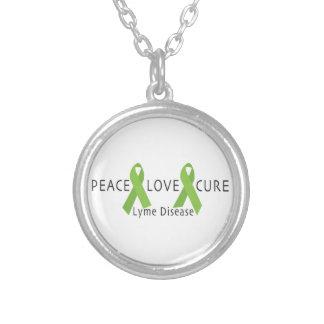 Lyme Disease Round Pendant Necklace
