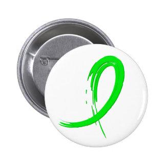 Lyme Disease s Lime Green Ribbon A4 Button
