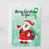 Lyme Disease Santa Cure Christmas Holiday Card