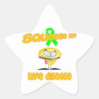 Lyme Disease Star Sticker