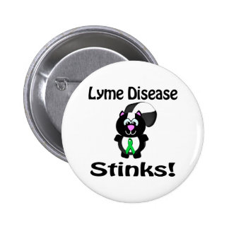 Lyme Disease Stinks Skunk Awareness Design 2 Inch Round Button