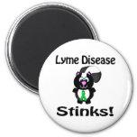 Lyme Disease Stinks Skunk Awareness Design Fridge Magnets