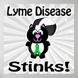 Lyme Disease Stinks Skunk Awareness Design Poster