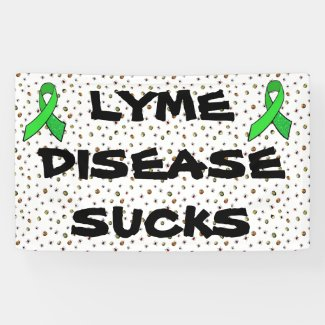 Lyme Disease Sucks Covered in Ticks Banner