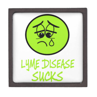 LYME DISEASE SUCKS KEEPSAKE BOX