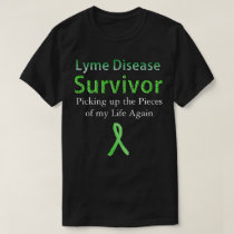 Lyme Disease Survivor Black Tshirt