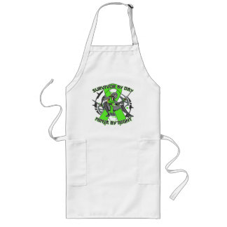Lyme Disease Survivor By Day Ninja By Night Long Apron
