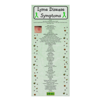 Lyme Disease Symptoms Chart Poster educational
